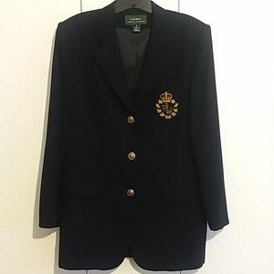 VTG Lauren Ralph Lauren Black Wool Crest Blazer